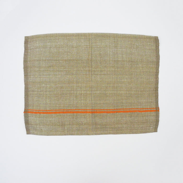 Burlap Stripe Placemat, orange
