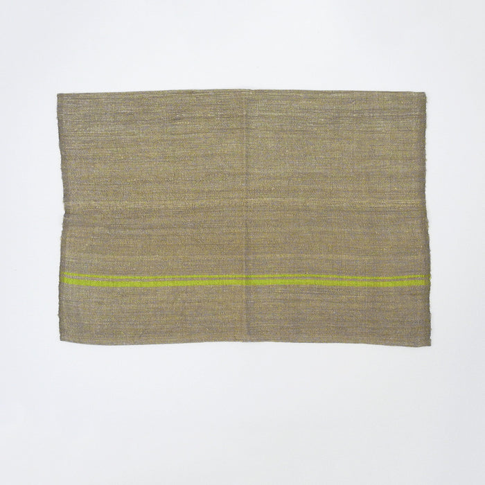 Burlap Stripe Placemat, lime