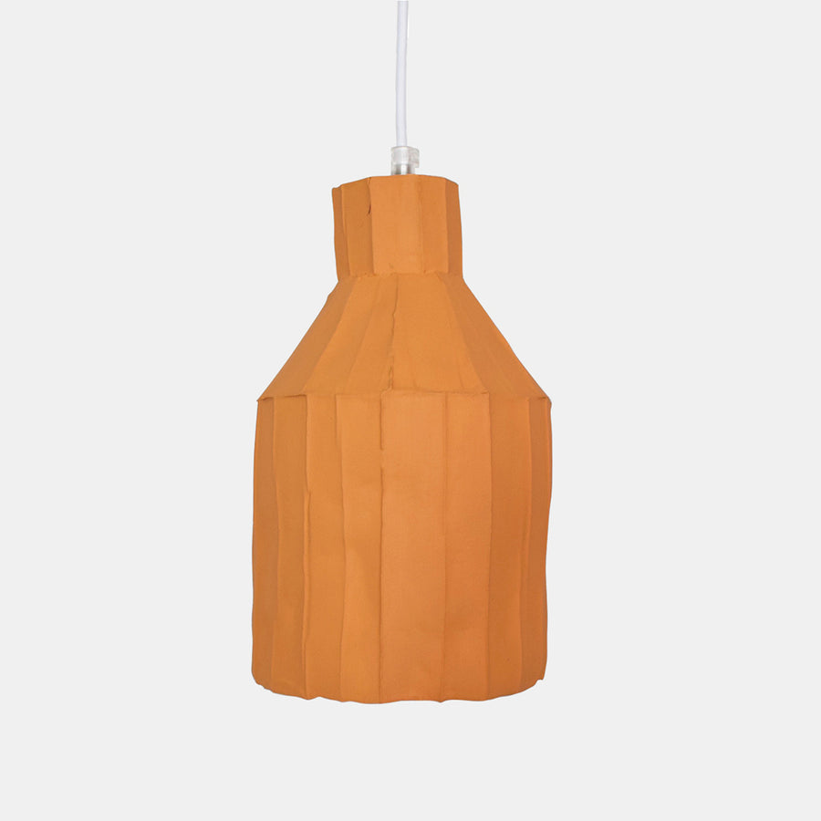 Mustard Cylinder Paper Clay Pendant