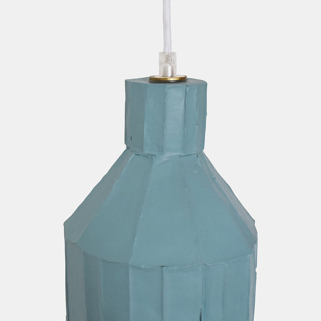 Powder Blue Cylinder Paper Clay Pendant