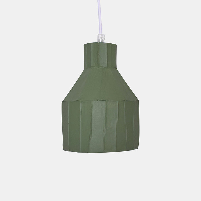 Sage Cylinder Paper Clay Pendant