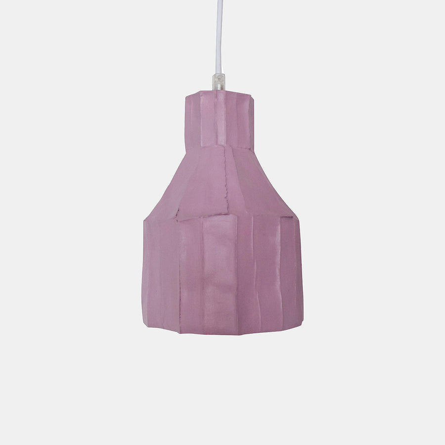 Petal Pink Cylinder Paper Clay Pendant