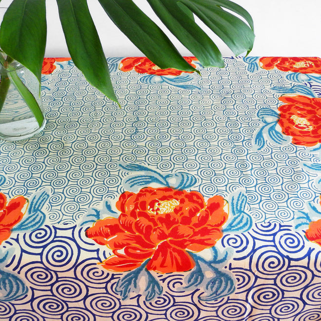 Camelia Peacock Tablecloth, Tablecloth, Lisa Corti, Collyer's Mansion - Collyer's Mansion