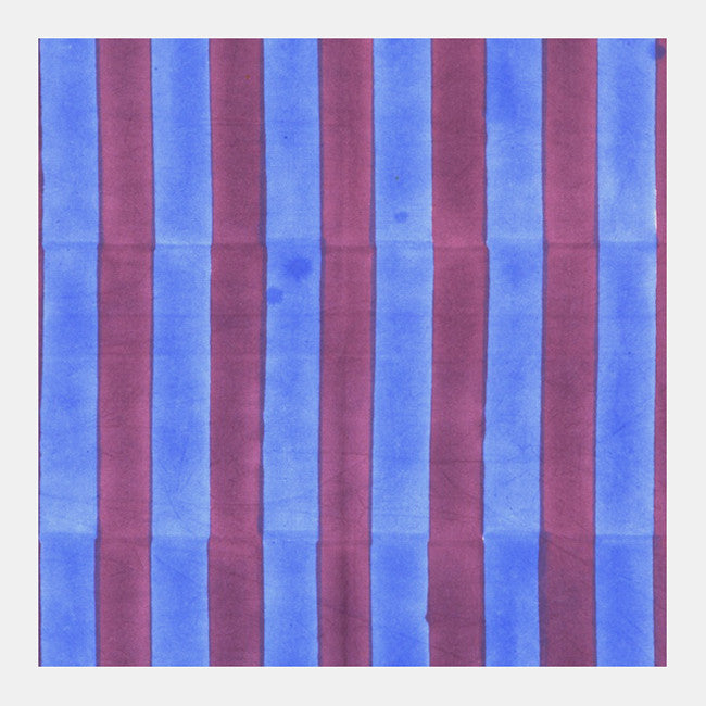 Blue and Purple Stripes Canvas by the Yard, Fabric by the Yard, Lisa Corti, Collyer's Mansion - Collyer's Mansion