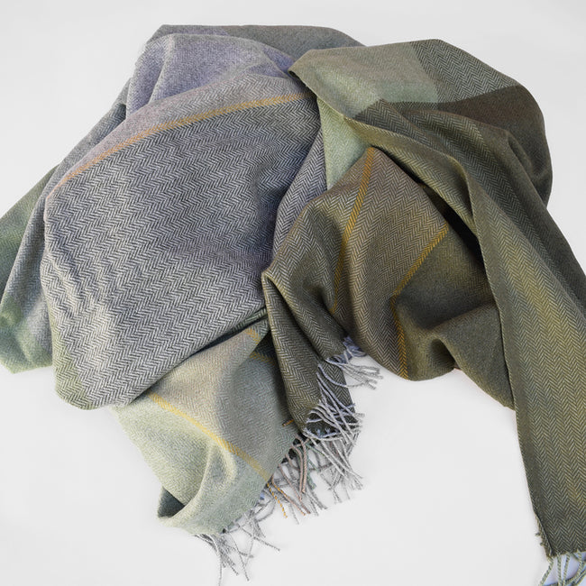 Green Cashmere Blend Throw
