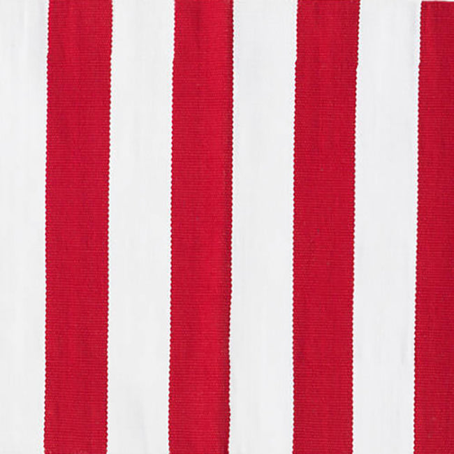 Catamaran Stripe Red Indoor/Outdoor Rug, 2' x 3'