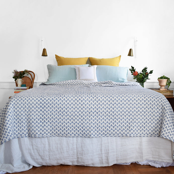 Chandni Blue Quilt, queen