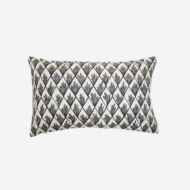 Charcoal Trellis Pillow, lumbar, Pillow, Collyer's Mansion Collection, Collyer's Mansion - Collyer's Mansion