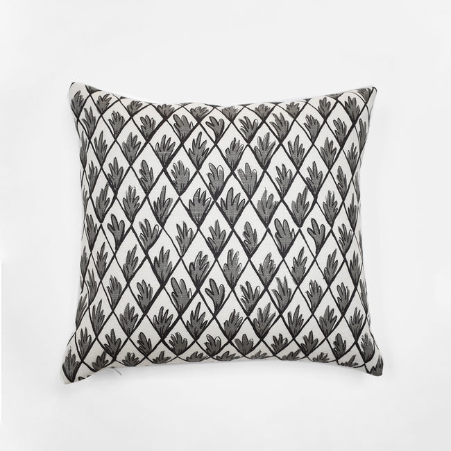 Charcoal Trellis Pillow, square, Pillow, Collyer's Mansion Collection, Collyer's Mansion - Collyer's Mansion