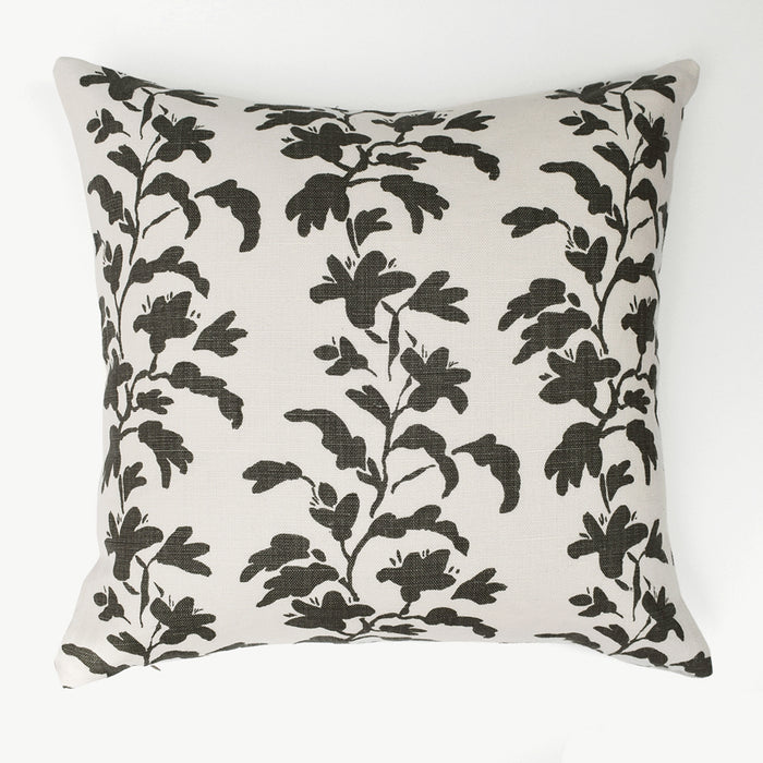 Charcoal Vine Pillow, square