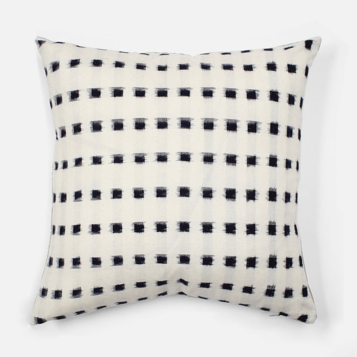 Check Ikat Pillow, square, Pillow, Collyer's Mansion, Collyer's Mansion - Collyer's Mansion