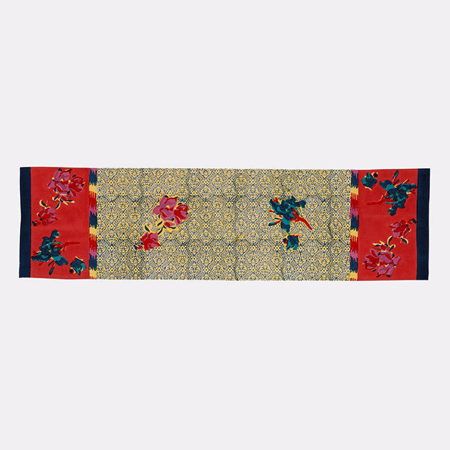 Chinese Spring Geranium Table Runner, Tablecloth, Lisa Corti, Collyer's Mansion - Collyer's Mansion