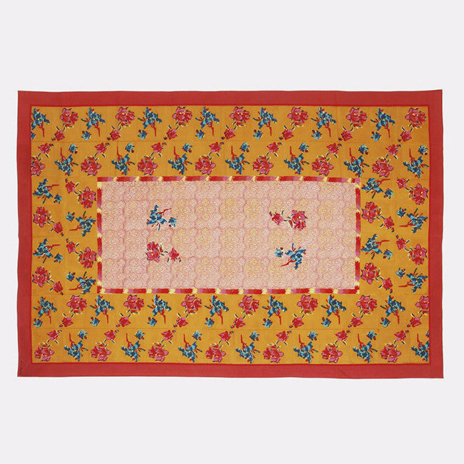 Chinese Spring Mustard Tablecloth, Tablecloth, Lisa Corti, Collyer's Mansion - Collyer's Mansion
