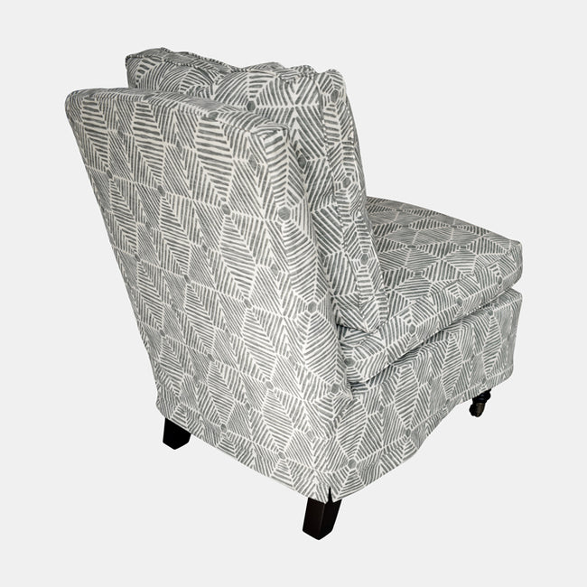 Clara Chair Slipcovered in Stonegate Grey