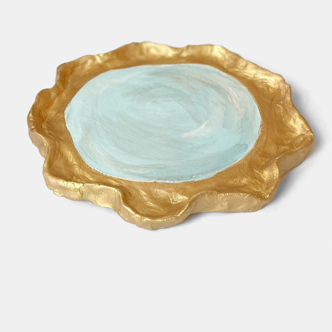 Round Clay Mirror Wall Art