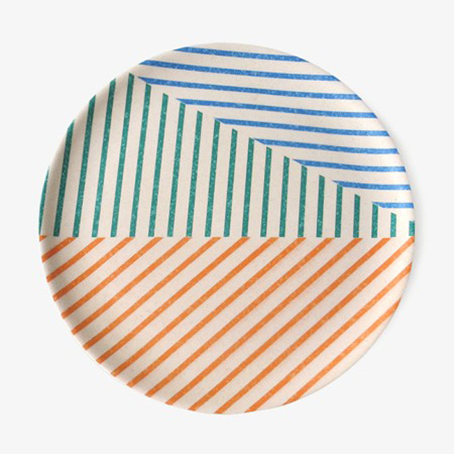 Color Stripe Plate, large