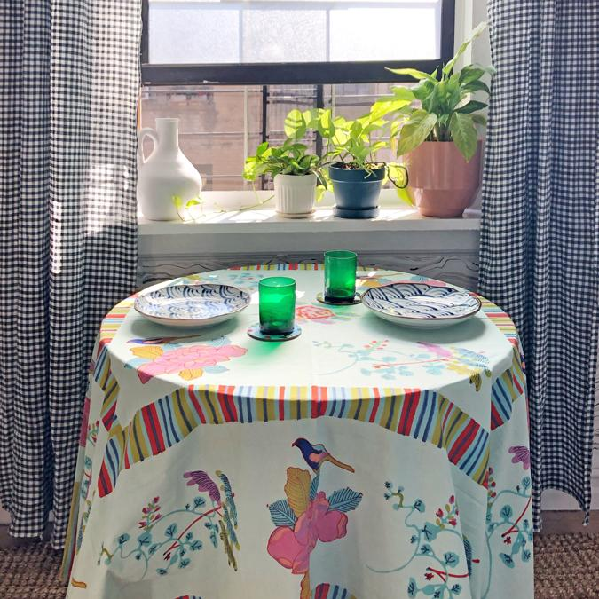 Lisa Corti Tablecloth for colorful tablescape - Collyer's Mansion