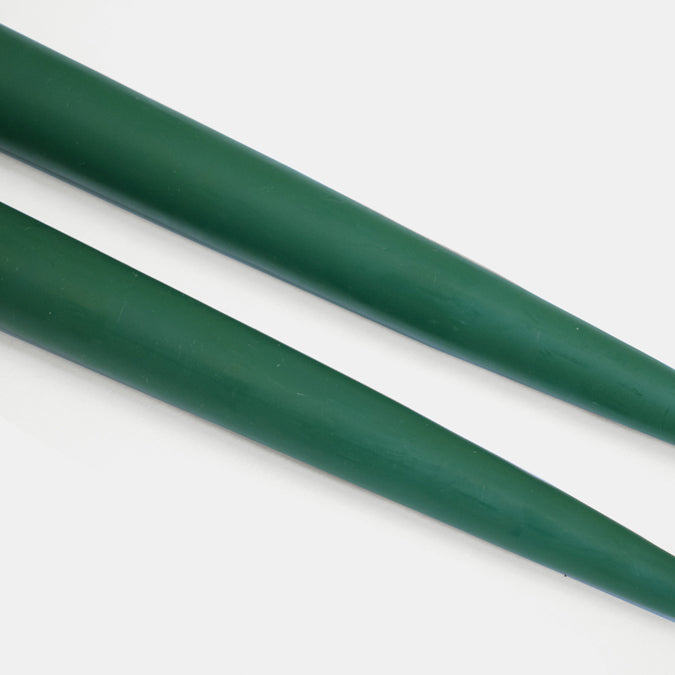 "9"" Forest Green Taper Candles"