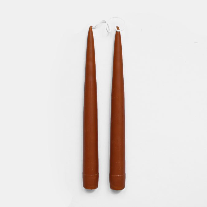 "9"" Rust Taper Candles"