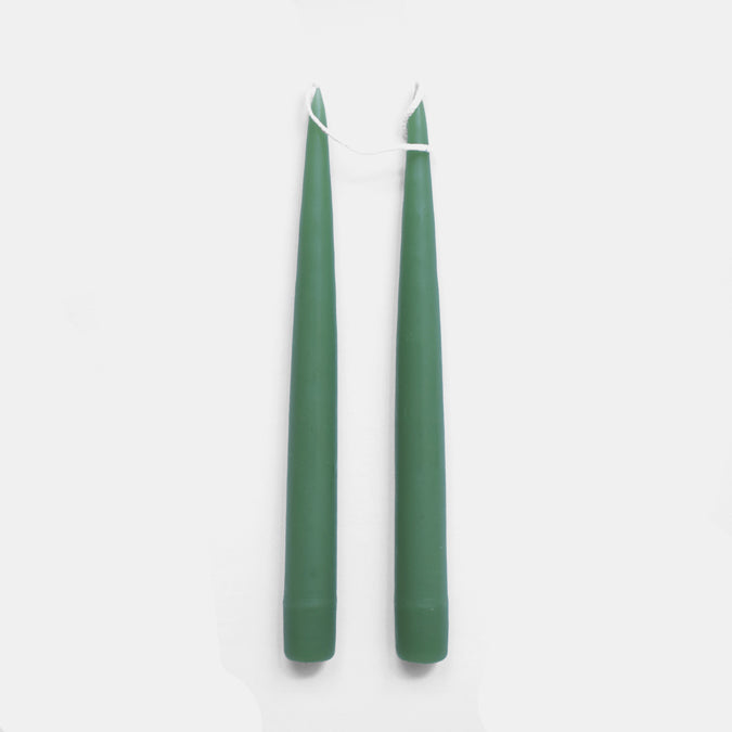 "9"" Sage Green Taper Candles"