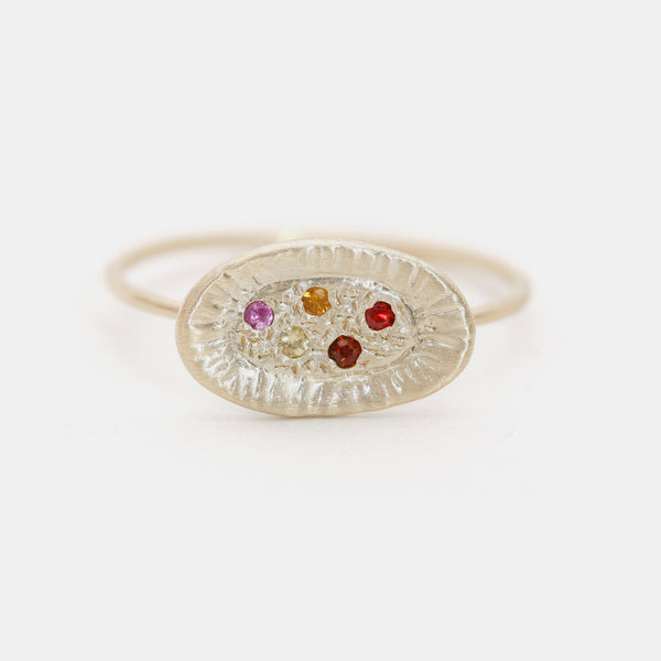 Colorful Sunburst Ring