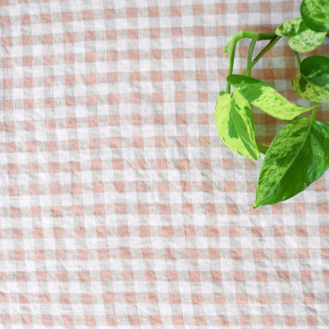 Linen Tablecloth, copper gingham, Tablecloth, Linge Particulier, Collyer's Mansion - Collyer's Mansion