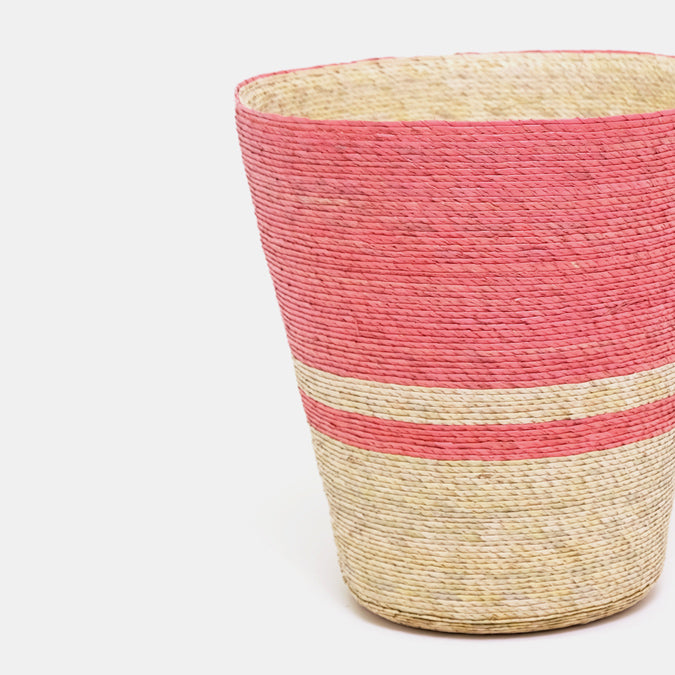 Double Stripe Conical Basket
