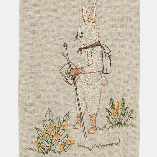 Hiker Bunny Tea Towel