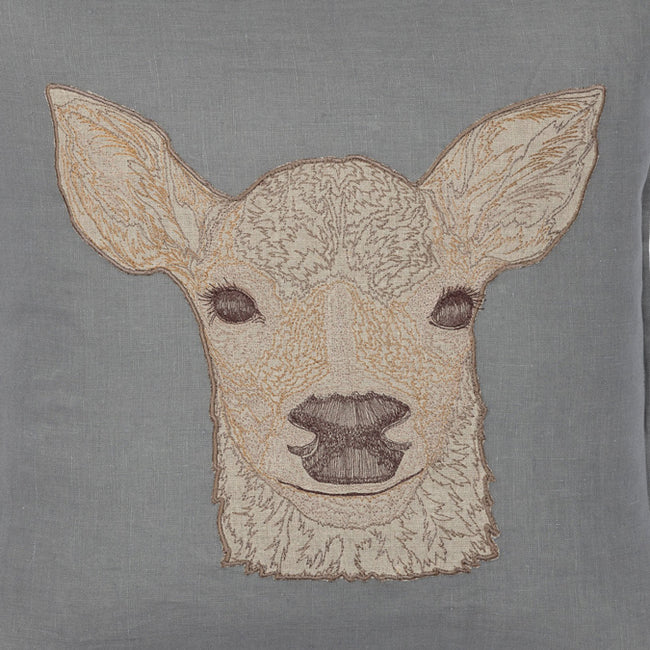 Deer Applique Pillow, lumbar