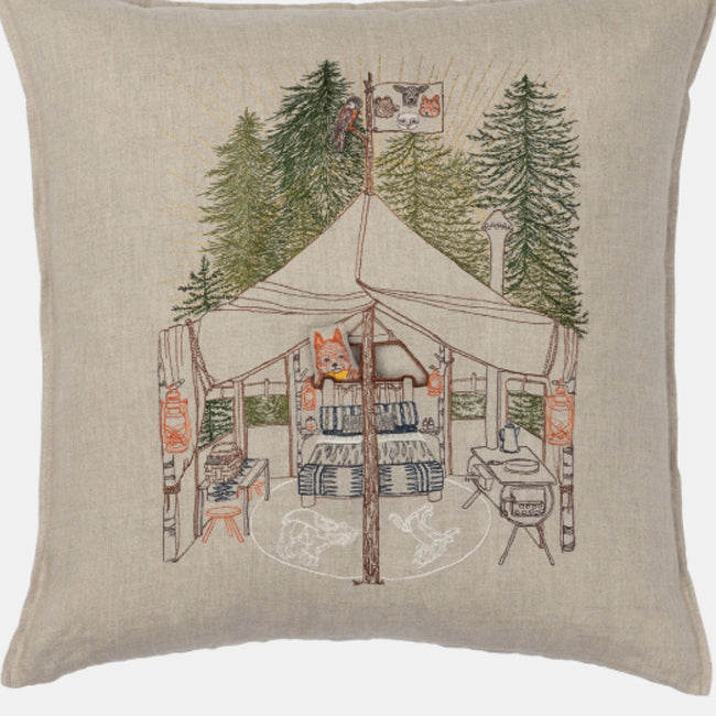 Camper Fox Pocket Pillow, square