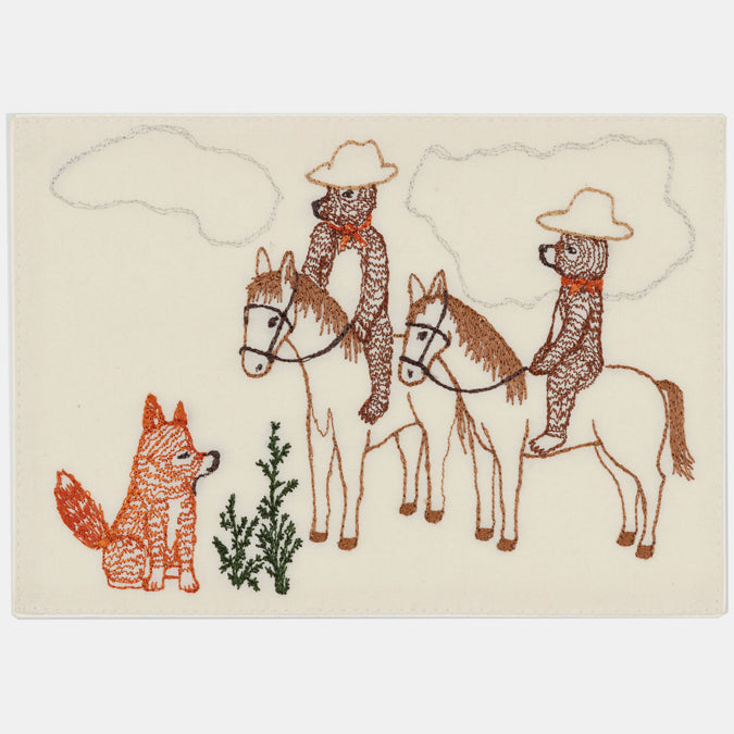 Bears on Horseback Card