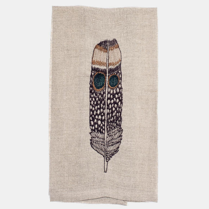 Owl Feather Tea Towel