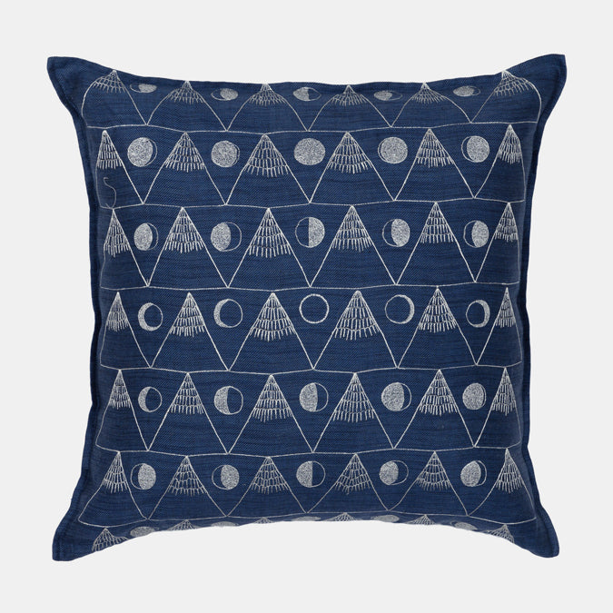 Moon and Mountain Pillow, square
