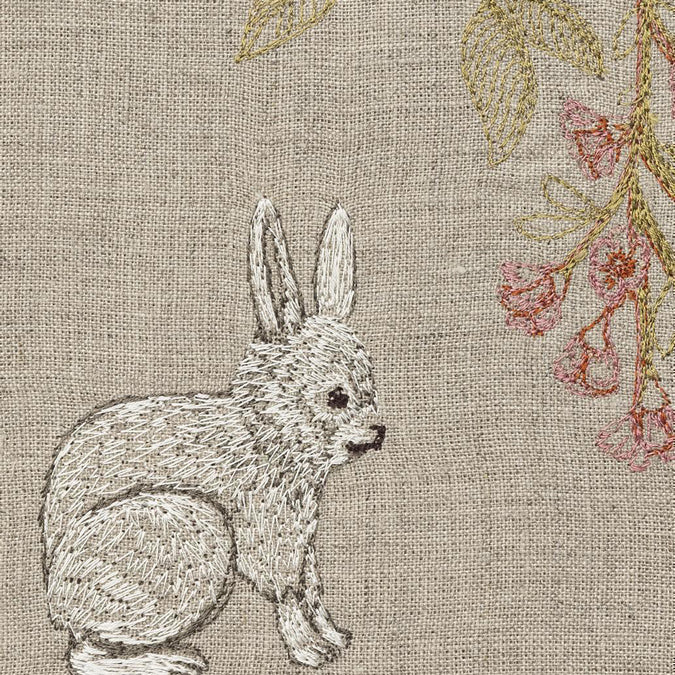 Bunny with Blossoms Tea Towel