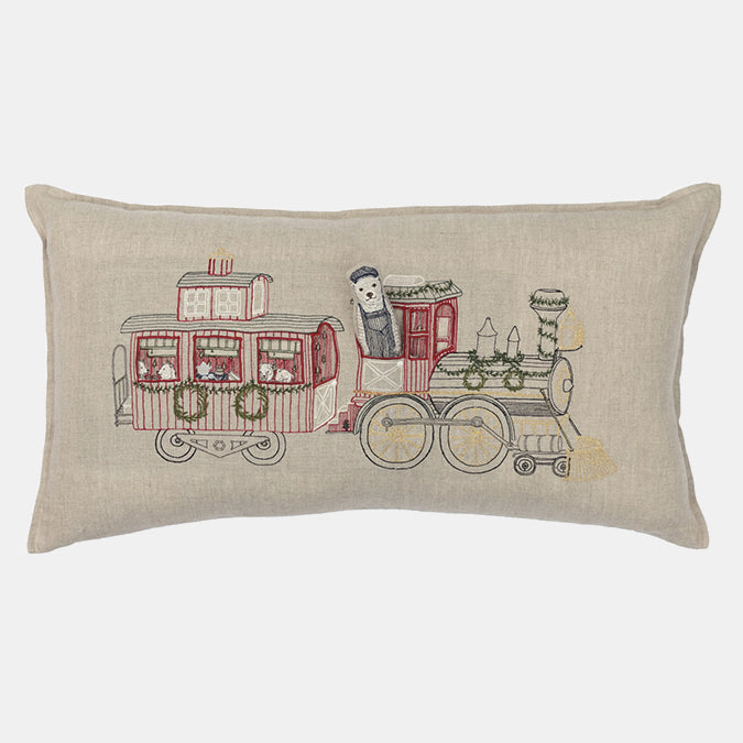 Train Pocket Pillow