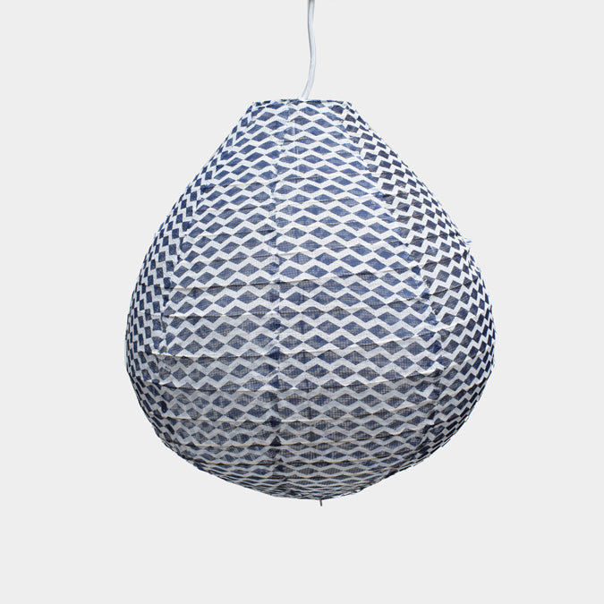 Affordable Lighting Cotton and Bamboo Blue Pendant Lantern for Colorful Home Decor at Collyer's Mansion