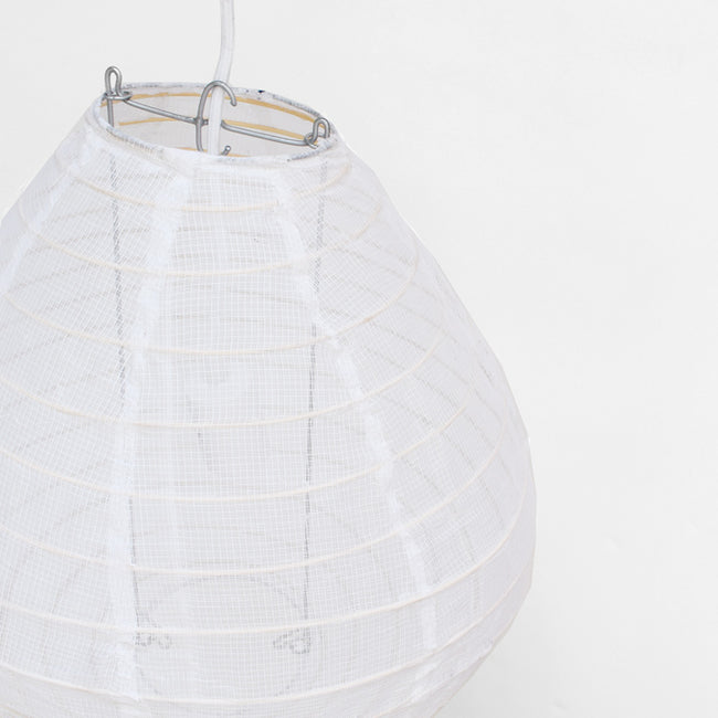 Affordable Lighting Cotton and Bamboo White Pendant Lantern for Colorful Home Decor at Collyer's Mansion