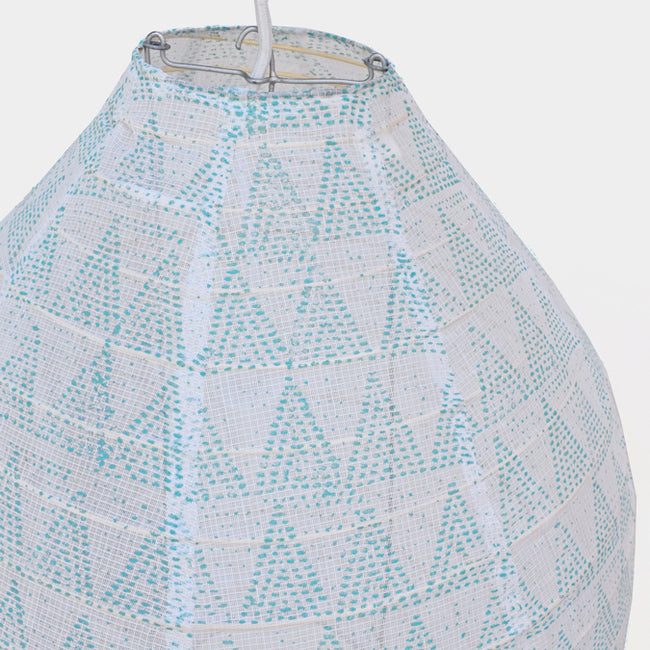 Affordable Lighting Cotton and Bamboo Turquoise Blue Pendant Lantern for Colorful Home Decor at Collyer's Mansion