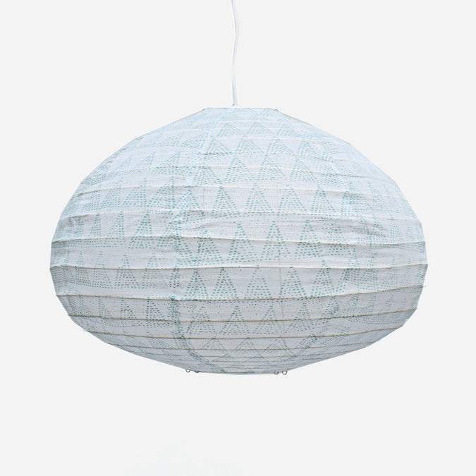Affordable Lighting Cotton and Bamboo Turquoise Pendant Lantern for Colorful Home Decor at Collyer's Mansion
