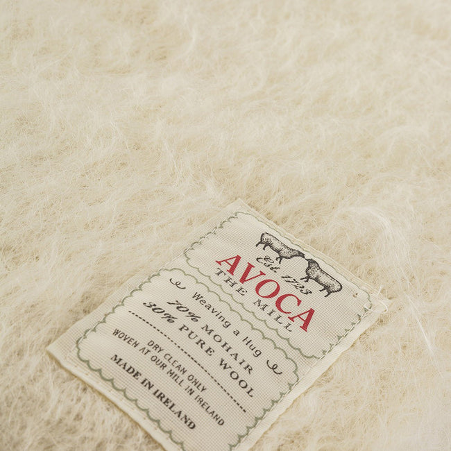Cream Mohair Throw