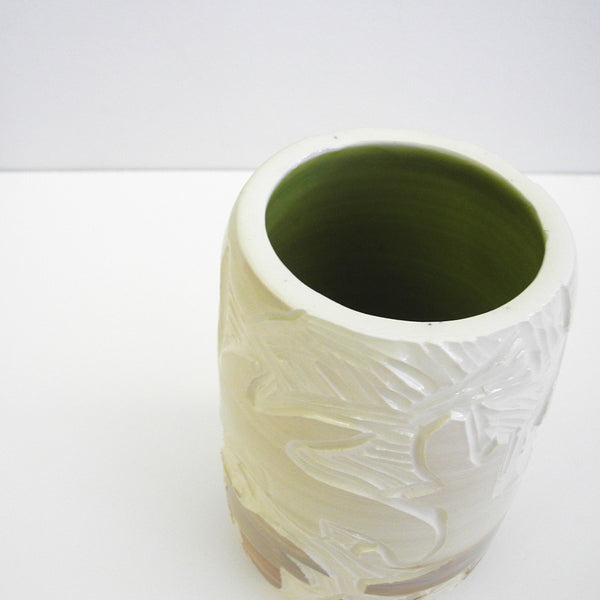 Carved Floral Vase, leaves