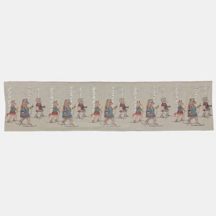Cross Country Skiers Table Runner, Tablecloth, Coral & Tusk, Collyer's Mansion - Collyer's Mansion