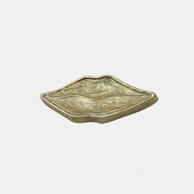 Doing Goods Lips Mouth Brass Tray for dining or home decor - Collyer's Mansion