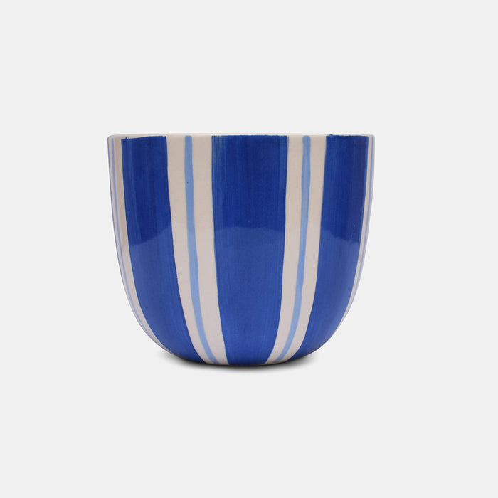 Dark Blue Stripe Planter