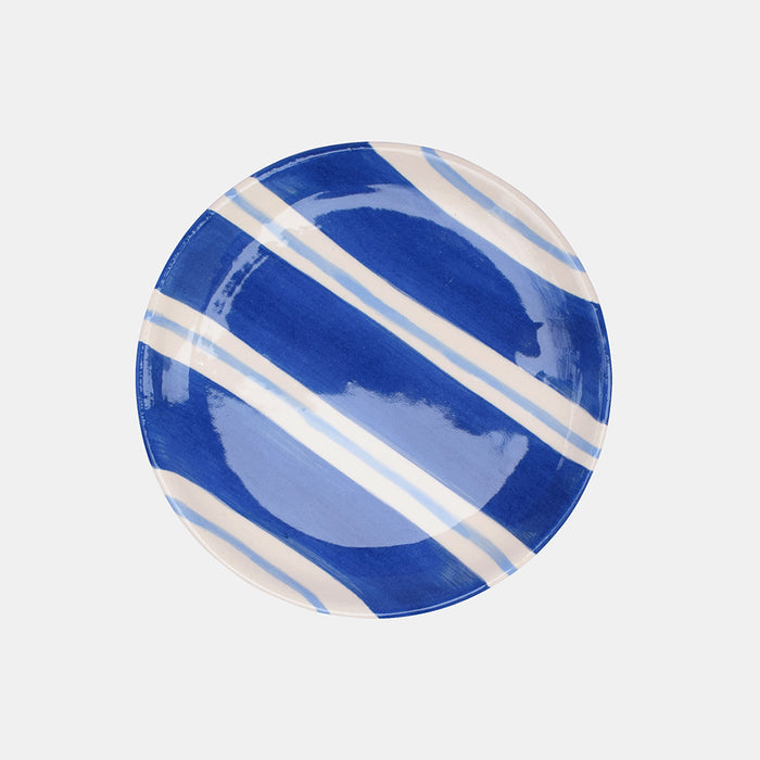 Dark Blue Stripe Dish