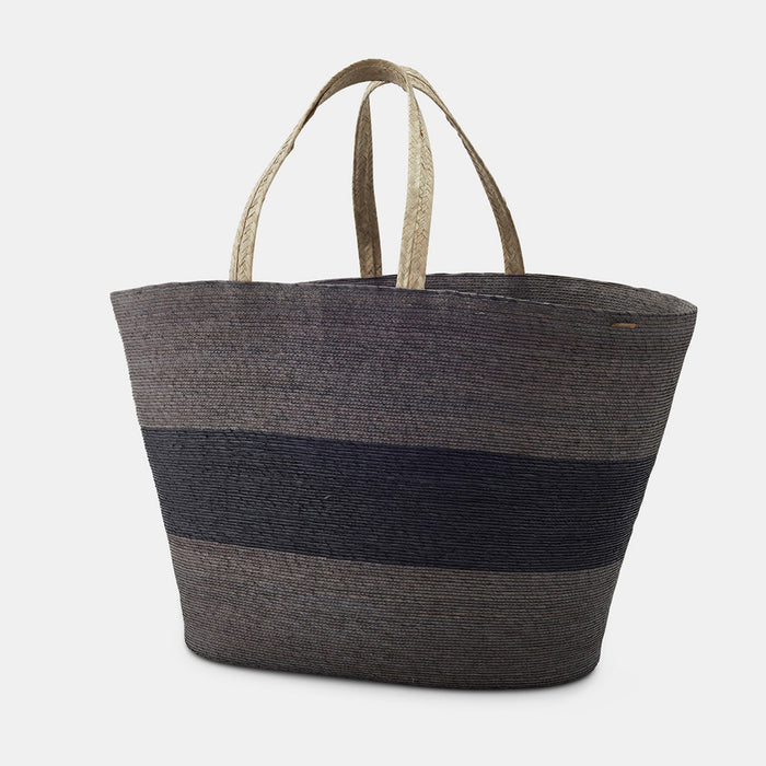 Carry Basket, grey stripe