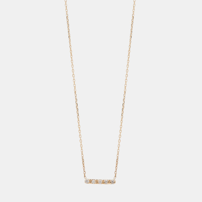 Diamond Bar Necklace, Necklace, IGWT, Collyer's Mansion - Collyer's Mansion