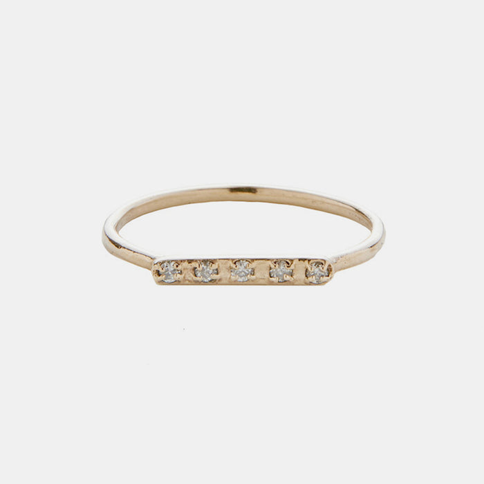 Diamond Bar Ring, Ring, IGWT, Collyer's Mansion - Collyer's Mansion