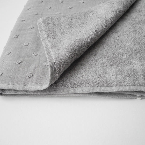 Dot Gauze Bath Towel, grey