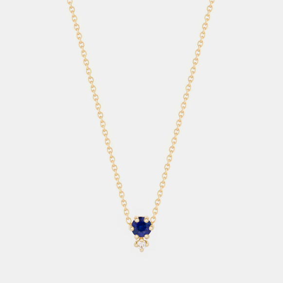 Duo Sapphire Necklace, Necklace, Hortense, Collyer's Mansion - Collyer's Mansion